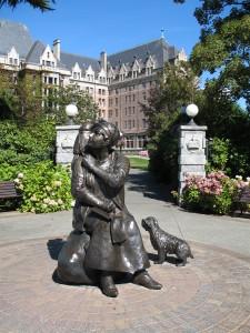 Emily Carr Statue in Victoria
