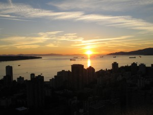 Sunset over English Bay, Vancouver, BC