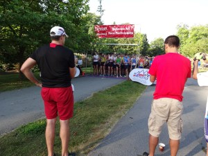 The Summerfast 10k start line
