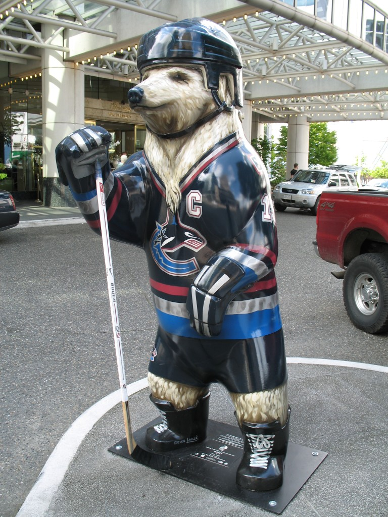 Canucks Spirit Bear, Vancouver, June 2006