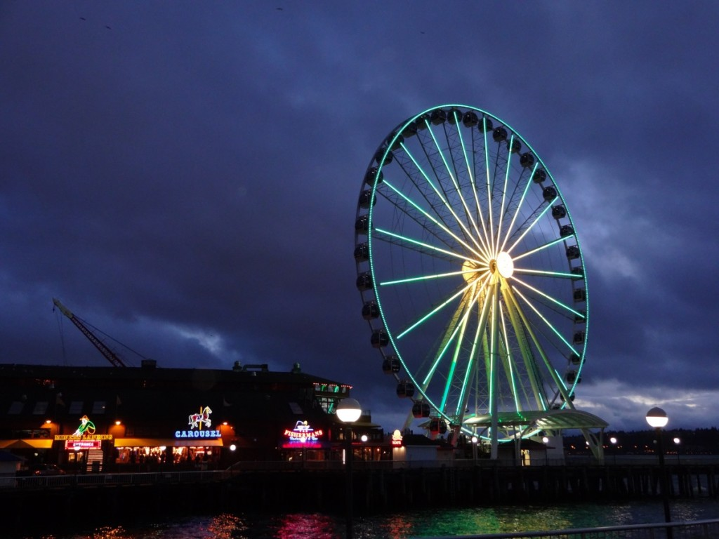 The Seattle Great Wheel - March 2014 Photograph Copyright – Philip Harris, 2014. All Rights Reserved